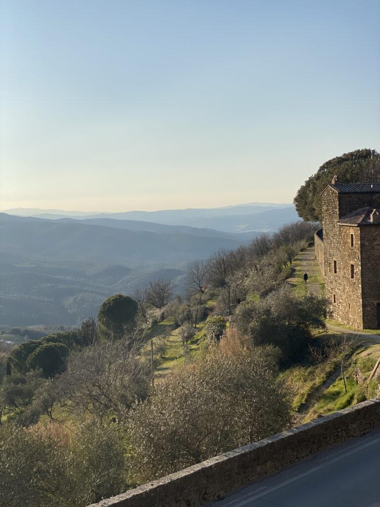Udsigt fra Montalcino by